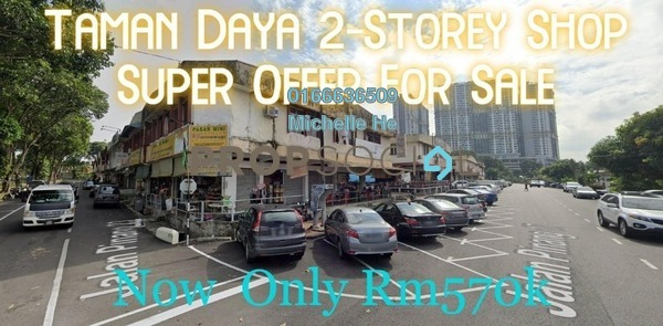 Shop For Sale in Taman Daya, Tebrau Freehold Unfurnished 0R/0B 570k