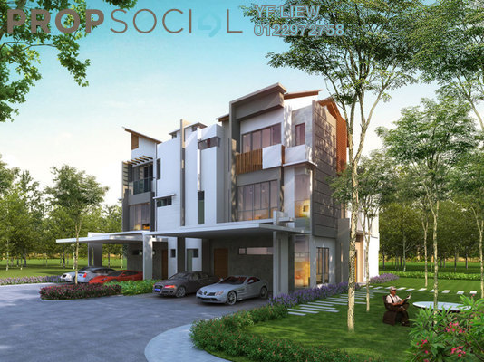 Semi-Detached For Sale in Twin Palms, Bandar Sungai Long Freehold unfurnished 5R/6B 1.68m