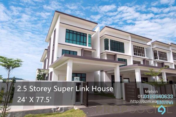 Superlink For Sale in Taman Ozana Residence, Melaka Leasehold Unfurnished 6R/6B 559k