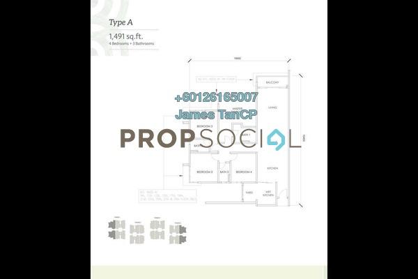 Condominium For Sale in Kaleidoscope, Setiawangsa Freehold Unfurnished 4R/3B 591k