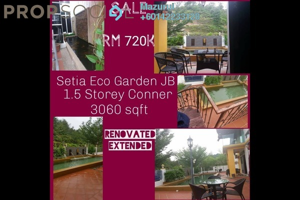 Terrace For Sale in Luciana, Setia Eco Gardens Freehold Semi Furnished 3R/2B 720k