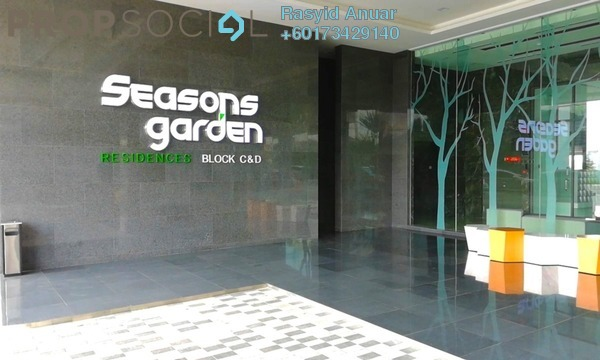 Serviced Residence For Sale in Seasons Garden Residences, Wangsa Maju Freehold Semi Furnished 3R/2B 530k