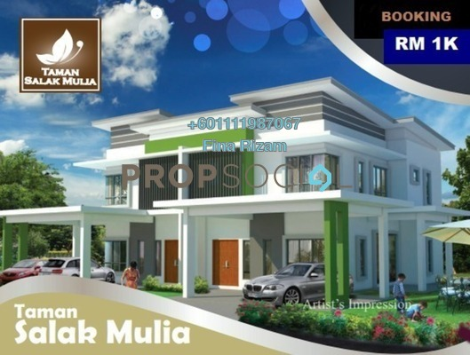 Semi-Detached For Sale in Taman Salak Mulia, Sepang Freehold unfurnished 4R/4B 641k