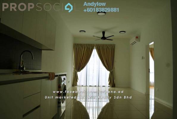 Condominium For Rent in Urbana Residences @ Ara Damansara, Ara Damansara Freehold Semi Furnished 2R/2B 1.8k