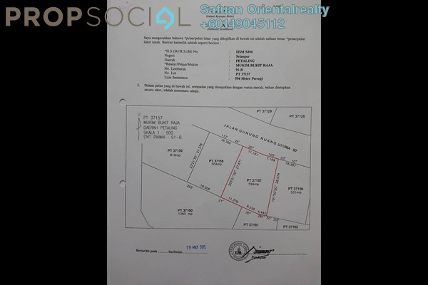 Land For Sale in Bukit Bandaraya, Shah Alam Freehold Unfurnished 0R/0B 750k