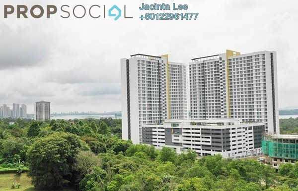 Serviced Residence For Sale in Twin Danga Residence, Johor Bahru Freehold Unfurnished 3R/2B 264k