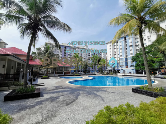 Apartment For Sale in Tasik Heights Apartment, Bandar Tasik Selatan Freehold Unfurnished 3R/2B 298k