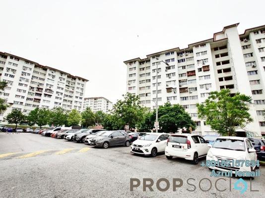 Apartment For Sale in Angsana Apartment, Bandar Mahkota Cheras Freehold Semi Furnished 3R/2B 255k