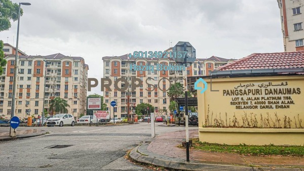 Apartment For Rent in Danaumas Apartment, Shah Alam Freehold Fully Furnished 3R/2B 1.2k