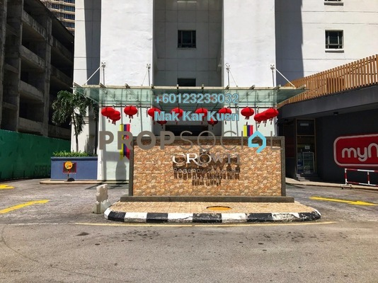 Serviced Residence For Sale in Crown Regency, KLCC Freehold Semi Furnished 3R/3B 900k