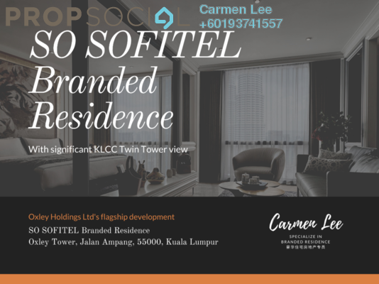 Condominium For Sale in Oxley Towers, Kuala Lumpur Freehold Fully Furnished 1R/1B 1.9m