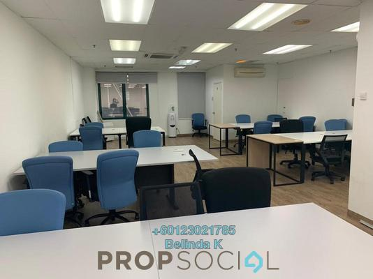 Office For Rent in Megan Avenue 2, KLCC Freehold Semi Furnished 0R/1B 6k