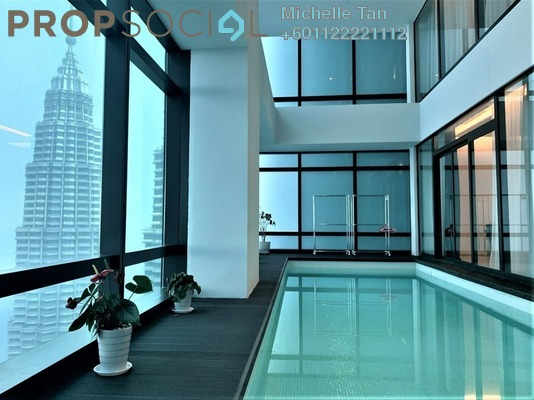Duplex For Rent in Four Seasons Place, KLCC Freehold Fully Furnished 5R/5B 42k