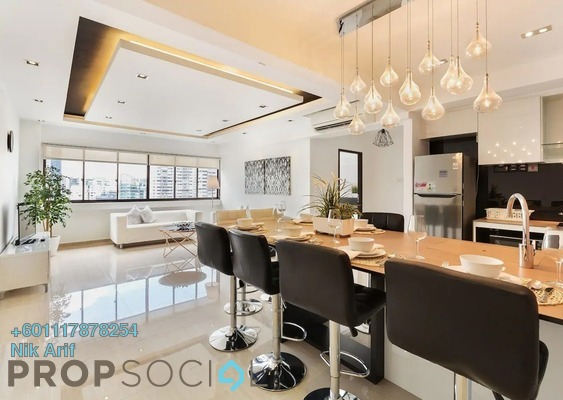 Condominium For Sale in The Rainz, Bukit Jalil Freehold Semi Furnished 3R/2B 690k