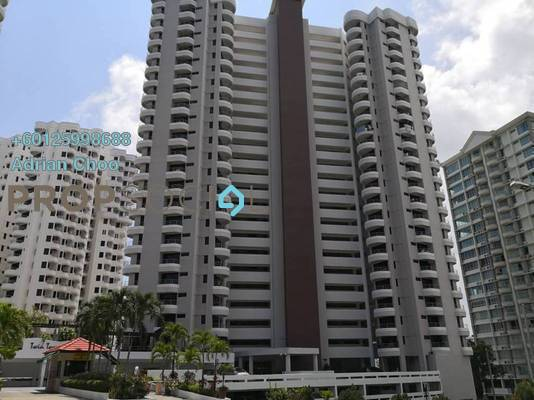 Condominium For Sale in Twin Towers, Tanjung Bungah Freehold Semi Furnished 3R/2B 610k