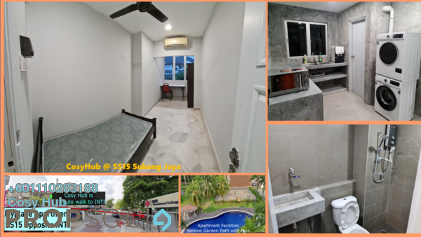 Apartment For Rent in MyPlace Apts, Subang Jaya Freehold Fully Furnished 4R/2B 645translationmissing:en.pricing.unit