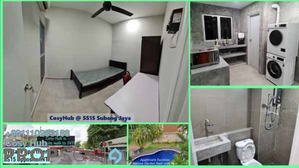 Apartment For Rent in SS15, Subang Jaya Freehold Fully Furnished 4R/2B 645translationmissing:en.pricing.unit