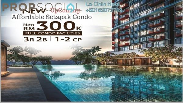 Condominium For Sale in Taman Sri Rampai, Setapak Leasehold Unfurnished 3R/2B 299k