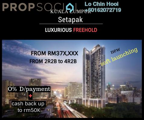 Serviced Residence For Sale in Diamond Residences, Setapak Freehold Unfurnished 2R/2B 380k