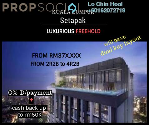 Serviced Residence For Sale in MH Platinum Residency, Setapak Freehold Unfurnished 2R/2B 379k