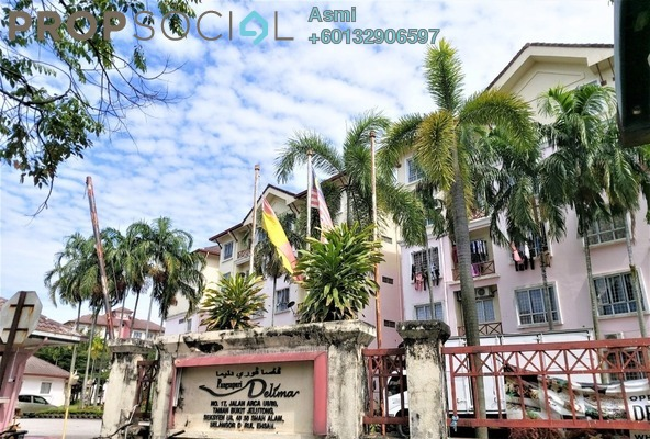 Apartment For Sale in Delima Apartment, Bukit Jelutong Freehold Semi Furnished 3R/2B 300k