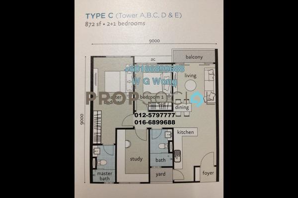 Condominium For Sale in Penang World City, Batu Uban Freehold Fully Furnished 3R/2B 750k
