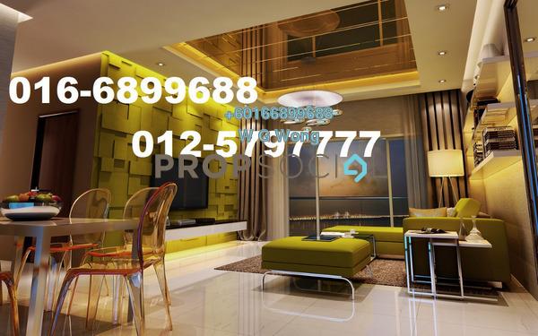 Condominium For Rent in Penang World City, Batu Uban Freehold Fully Furnished 3R/2B 2.55k