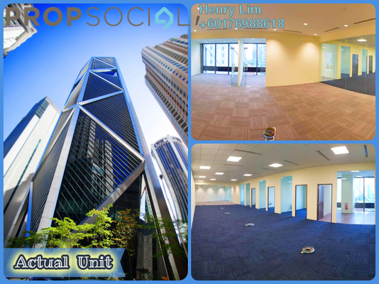 Office For Rent in Ilham Baru Tower, KLCC Freehold Semi Furnished 0R/0B 22.8k