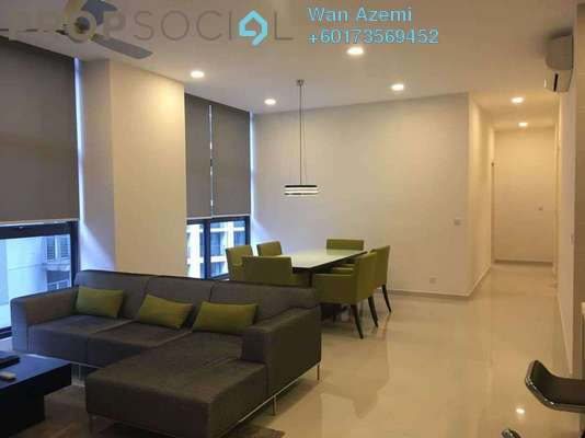 Condominium For Rent in Mirage Residence, KLCC Freehold Fully Furnished 3R/3B 4.1k