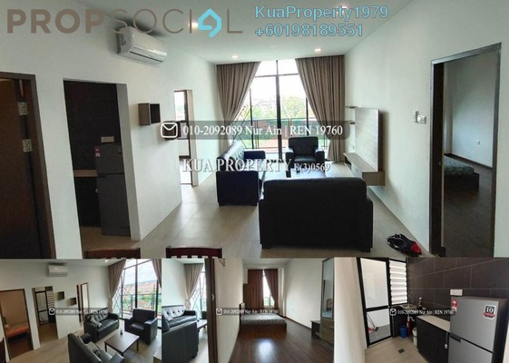 Apartment For Rent in REX Apartment @ BDC, Kuching Freehold Fully Furnished 3R/2B 1.8k