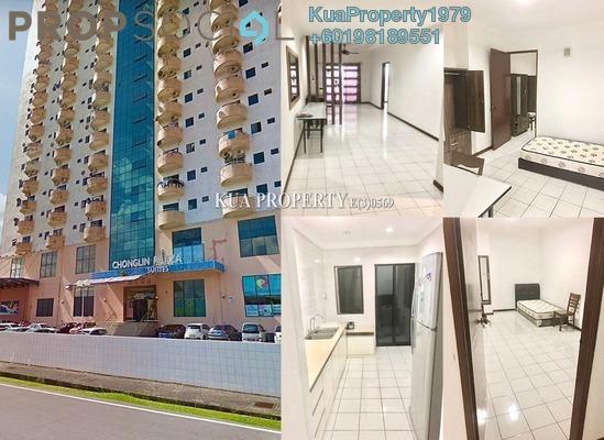 Condominium For Rent in Chonglin Plaza, Kuching Freehold Semi Furnished 3R/2B 1.2k