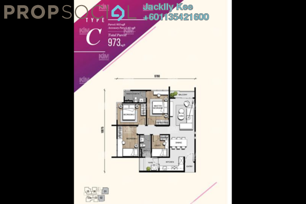 Condominium For Sale in Bliss Bayu Gasing Residency, Old Klang Road Freehold Semi Furnished 4R/2B 549k