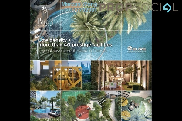 Serviced Residence For Sale in Parc 3, Cheras Freehold Semi Furnished 3R/2B 610k