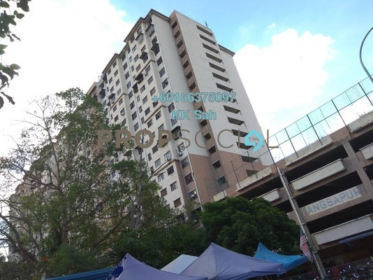 Apartment For Sale in Pangsapuri Berembang Indah, Keramat Leasehold Semi Furnished 3R/2B 218k
