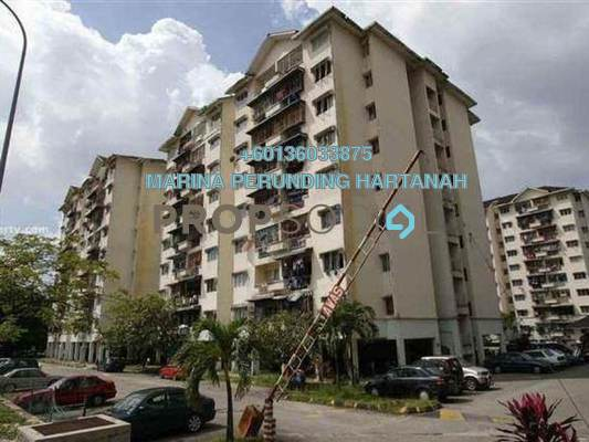 Apartment For Sale in Taman Bunga Negara, Shah Alam Freehold Semi Furnished 3R/2B 280k