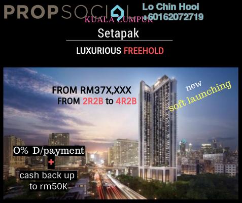 Serviced Residence For Sale in Idaman Putera, Setapak Freehold Unfurnished 2R/2B 373k