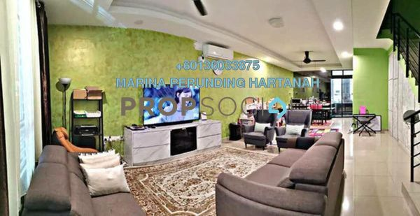 Terrace For Sale in Bangi Avenue, Kajang Freehold Semi Furnished 4R/4B 590k