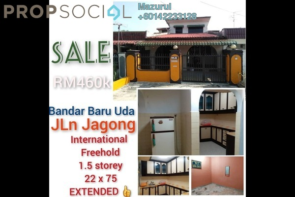 Terrace For Sale in Bandar Baru Uda, Johor Bahru Freehold Semi Furnished 4R/3B 460k
