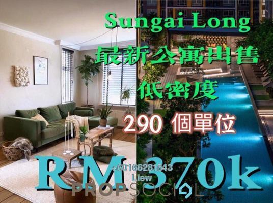 Condominium For Sale in Taman Suria Jaya, Cheras South Freehold Semi Furnished 3R/2B 370k