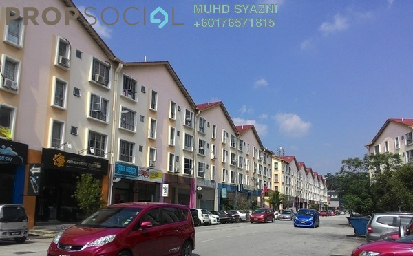 Apartment For Sale in Pusat Komersial, Shah Alam Freehold Unfurnished 3R/2B 230k