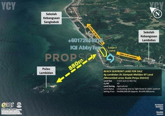 Land For Sale in Jalan Siampak Malidan, Menumbok Freehold Unfurnished 0R/11B 900k