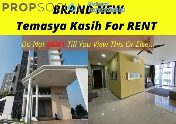 Condominium For Rent in Temasya Kasih, Temasya Glenmarie Freehold Fully Furnished 3R/2B 2.1k