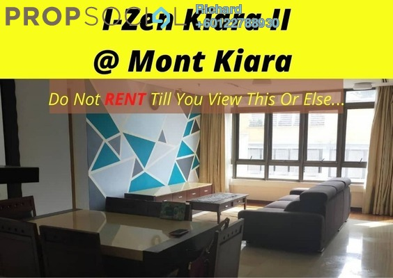 Serviced Residence For Rent in i-Zen Kiara II, Mont Kiara Freehold Fully Furnished 3R/3B 2.9k
