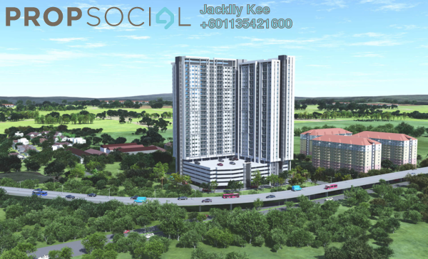 Serviced Residence For Sale in Lanai Residences, Bukit Jalil Freehold Unfurnished 3R/2B 300k