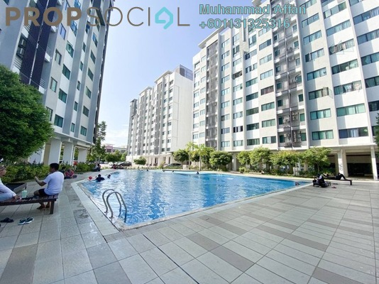 Apartment For Sale in Suria Rafflesia, Setia Alam Freehold Fully Furnished 3R/2B 260k