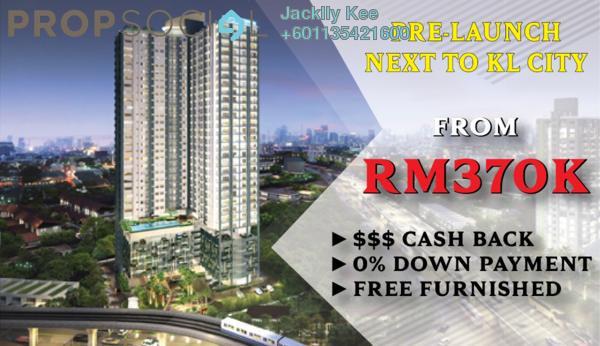 Serviced Residence For Sale in Kenwingston Avenue, Sungai Besi Freehold Fully Furnished 3R/2B 500k