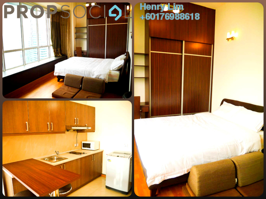 SoHo/Studio For Rent in Park View, KLCC Freehold Fully Furnished 0R/1B 1.6k