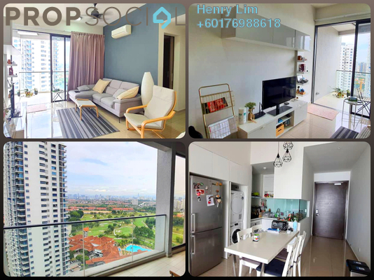Serviced Residence For Sale in Twin Arkz, Bukit Jalil Freehold Semi Furnished 2R/2B 830k