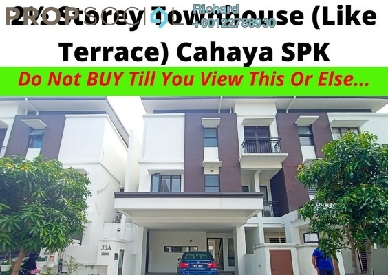 Townhouse For Sale in Cahaya SPK, Shah Alam Freehold Unfurnished 4R/4B 1.05m