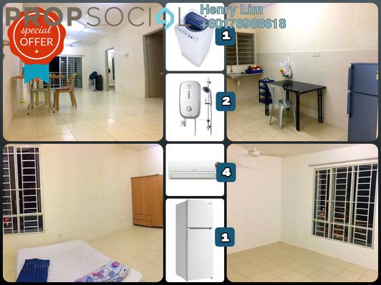 Condominium For Rent in Platinum Lake PV12, Setapak Freehold Semi Furnished 4R/2B 1.5k